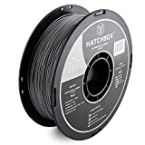 HATCHBOX PLA 3D Printer Filament, Dimensional Accuracy +/- 0.03 mm, 1 kg Spool, 1.75 mm, Silver