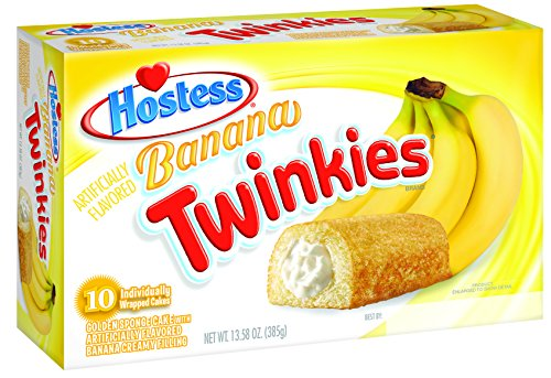 Hostess Twinkies, Banana, 10 Count (Pack of 6)
