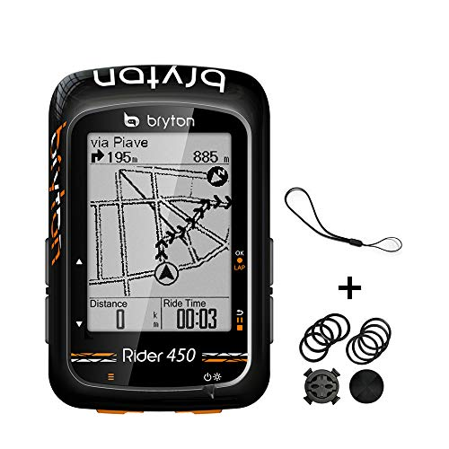 "Bryton Rider 450E GPS Ciclismo, Negro, 2.3"""