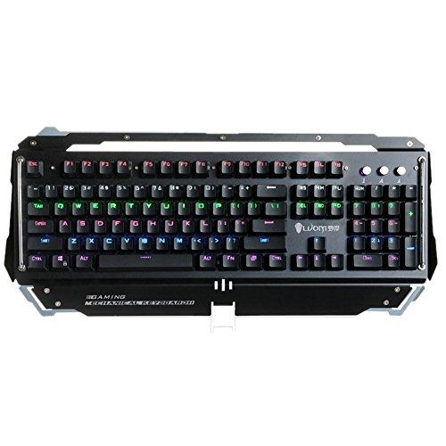 Icegrey Mechanisch Gaming Toetsenbord, Waterbestendig Gaming Toetsenbord met Blauwe Schakelaar voor Gamers, Anti-ghosting Toetsenbord 19.3