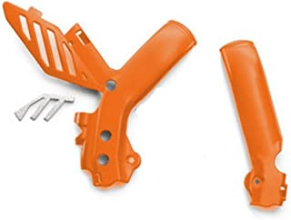 NEW KTM FRAME PROTECTION GUARDS ORANGE SX SXF XC XCW EXC 2012-2015 7720309400004