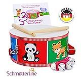 SCHMETTERLINE Trommel fr Kinder aus Holz - Musikinstrument fr Kinder ab 3...