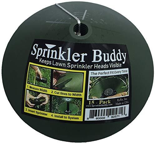 Sprinkler Buddy - 15 Pack, Sprinkler Head Guard Donuts, Remove Sprinkler Head to Install, Made in USA, See Video