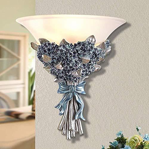 Sconce wandlamp muur slaapkamer hoofd LED gekleurde hars rustieke achtergrond Aisle wandlamp 1 * E27 (31 * 33CM) binnenverlichting wandlampen