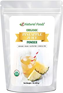 Organic Pineapple Juice Powder - Tropical Fruit Superfood Drink Mix Supplement - Mix in Smoothies, Shakes, Tea, Cooking & ...