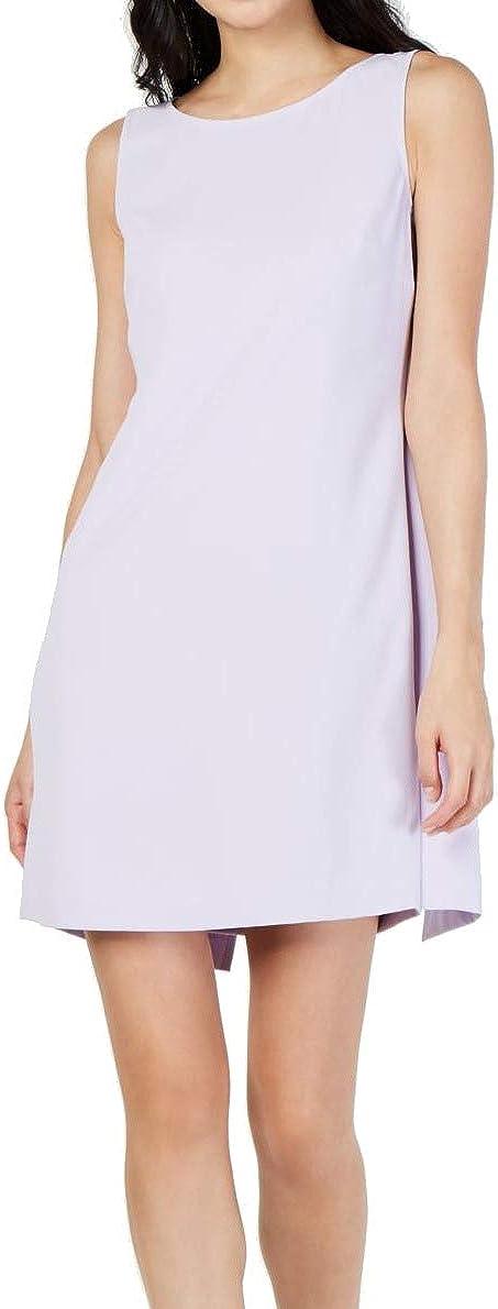 Trina Wholesale Turk Womens Purple Sleeveless Short Dress Indianapolis Mall Neck Boat A-Line