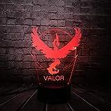 KangYD Pokemon Go Jeu Eagle 3D Visual Lampe, LED Veilleuse, Meilleur cadeau pour...