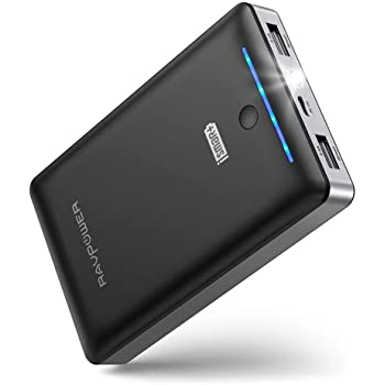 Portable Charger RAVPower 16750mAh Power Bank Ultra-Compact Battery Pack with 4.5A Max Output Portable Phone Charger Dual iSmart USB Ports & Flashlight for iPhone 11 XS X Samsung Galaxy S20 S10 Note10