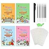 Mocobo Magisches Übungsbuch, 23 Stück, englische Handschrift, wiederverwendbar, magische Kalligrafie-Zahlen, Zeichenbuch für Kinder ab 3 Jahren