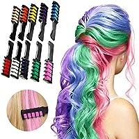 Tizas para el pelo, 10 unidades, peine de color para el cabello, temporal, desechable, lavable, para niños y niñas, para fiestas y cosplay