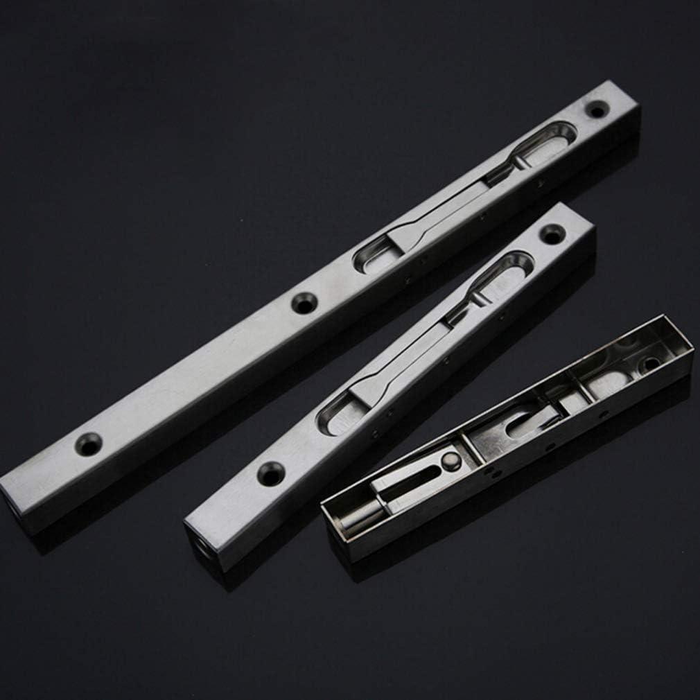 LeeZAKA Concealed Door Flush Bolt Latch Slide Bolt Lock for Concealed Door,8 Inch