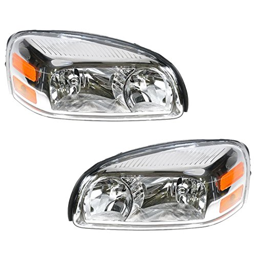 Headlights Headlamps Left & Right Pair Set for 05-09 Uplander Terraza Relay