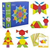 Tangrams Toy for Kids Boys, Wooden Graphical Puzzles Brain Game Toy for 2-6