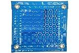 Coperta termica (8 x 4 m) da 700 micron Geobubble rinforzata in poliestere e con rinforzo in tutto il perimetro + copertura di protezione per il parasole + avvolgitore telefonico.