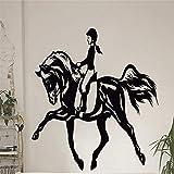 Muro Pasta Murale Donne A Cavallo Sport Parete Pasta Arte Incollare Soggiorno Stanza Dei Bambini In Vinile Finestra Stanza Murale