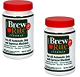 Brew Rite Coffee Maker Cleaner for Home Coffee Machines and Espresso Equipment, 2 Pack (8 oz. each) 2021 version