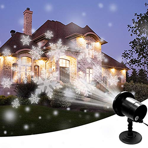 SZWTC Snowfall LED Light Projector, Christmas Snow Light,Snow Falling Projector Lamp Dynamic Snow Effect Spotlight for Garden Ballroom, Party,Halloween,Holiday Landscape Decorative