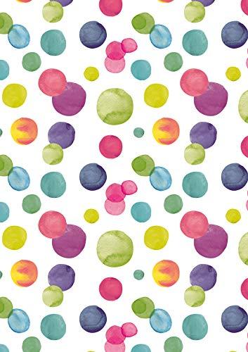 Geschenkpapier farbige Punkte - Breite 50cm - 50m lang - K601848-50cm-50Mtr