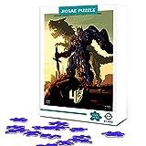 Puzzle para adultos 1000 piezas Transformers Optimus Prime poster Rompecabezas de madera Family movie star poster puzzle, desafío intelectual, juguete educativo 75x50cm