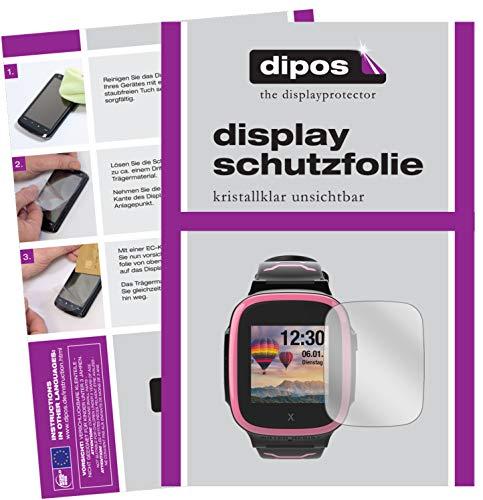 dipos I 2X Schutzfolie klar kompatibel mit Xplora X5 Play Folie Bildschirmschutzfolie