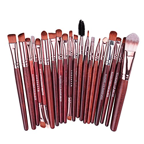 Pinceaux de Maquillage à 20 Pièces, Pinceaux Tour des Yeux et aux lèvres, Set de Pinceaux Maquillage Professionels pour Yeux Ombre Fard à Paupières mélange