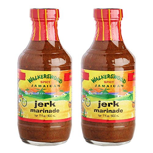 Jamaican Jerk Marinade Seasoning Sauce  Achieve the Absolute Traditional Island Flavor Taste Formulated  Perfect on Marinating Meat, Chicken, Fish, and Seafoods   500ml 2 PACK