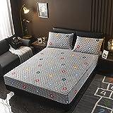 XGguo Protector de colchón - Protector de colchón antialérgico Sábana de Cama más Gruesa Antideslizante de una Sola Pieza-6_100 × 200cm