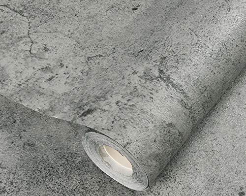 Retro impermeable autoadhesivo papel pintado cemento PVC etiqueta de la pared restaurante cafetería tienda de ropa fondo pared vinilo decoración 60 cm * 5 m