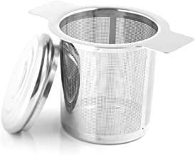 Loose Leaf Tea Steeper,Xloey 18/8 Stainless Steel Tea Basket and Tea Infuser Fine Mesh Filters Tea Strainer Steeper Double Handles for Hanging on Teapots, Mugs, Cups to steep Loose Leaf Tea and Coffee