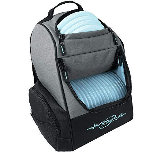 MVP Disc Sports Backpack Shuttle Bag (Gray/Teal)