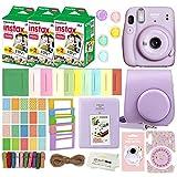 Fujifilm Instax Mini 11 Instant Camera with Case, 60 Fuji Films, Decoration Stickers, Frames, Photo Album and More Accessory kit (Lilac Purple)