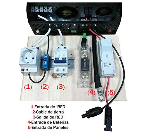 Preinstalacion del Kit Solar para 5000va 48v protección y Conectores para Kit Solar