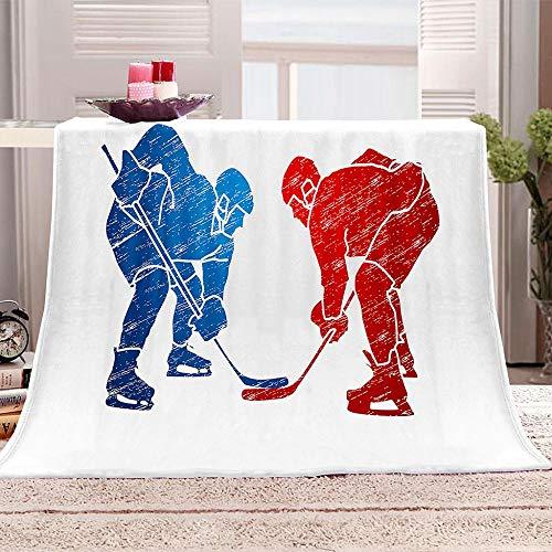 JKRFV Wohnzimmerdecke Eishockey Decken Sofa Decken Flauschige Wohndecke Schlafdecke 70.8x78.7 inch