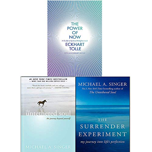 Price comparison product image The Power of Now,  Untethered Soul,  The Surrender Experiment 3 Books Collection Set