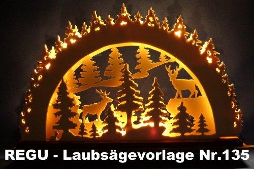 """REGU Laubsägevorlage \"""" Im Erzgebirgischen Wald Nr. 135"""
