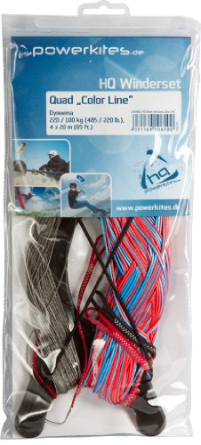HQ and Designs 12045801 Winder Set Quad Color Line Kite