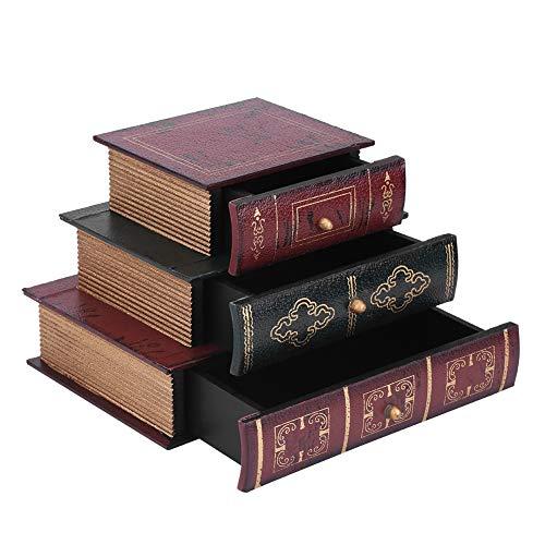 Antilog houten juwelendoos, grote sieraden organizer opbergdoos 3 lagen koffer, modieuze boekhouder houder houder