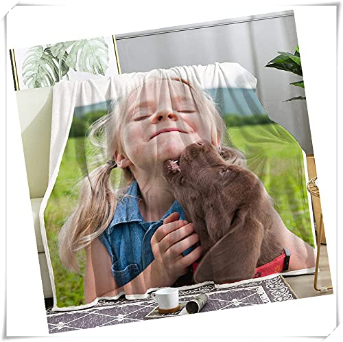 Xingnang Mantas personalizadas, mantas de collage personalizadas para todas las ocasiones, regalos únicos para familiares, amigos, padres e hijos, 1 fotos, 92 x 100 cm