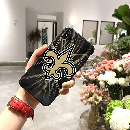 HUAI New Orleans Saints - Carcasa para iPhone 11 Pro XS MAX 8 7 6 6S Plus X 5S SE XR (color: A10, material: para iPhone5C)