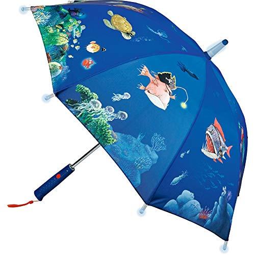 Die Spiegelburg 15035 Regenschirm Capt'n Sharky Tiefsee (mit Lichteffekten)