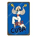 Gratis Cuba City Sightseeing Retro Letrero de metal Cartel de chapa Bar Café Gente Cueva Decoración de la pared del hogar Póster 20x30cm 2