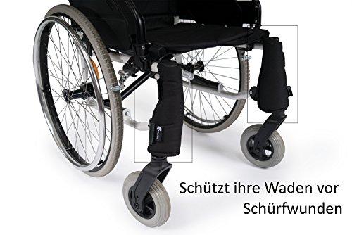 Schutz GAMASCHE von SALJOL für Rollstuhlfahrer, schützt vor Risswunden beim Trippeln
