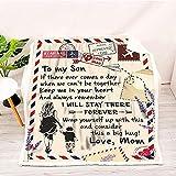 JOOLEE Manta mullida personalizada, regalo de mensaje, manta con nombre para mamá, papá, a mi hijo y a mi hija, manta supersuave de franela E