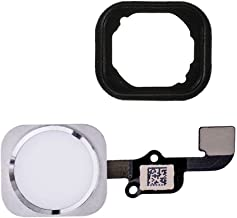 for iPhone 6 and 6 Plus Home Button Homebutton with Rubber Ring Flex Cable and Sensor Assembly (White)