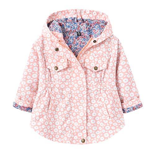 LUCKME Chaqueta con capucha para bebé, primavera, otoño, invierno, unisex, chaqueta con capucha, chaqueta para niños pequeños, chaqueta acolchada con capucha