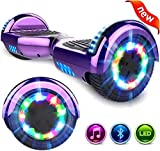 GeekMe Self Balancing Electric Scooter 6.5 inch, Hoverboards for Kids and Adults, Segway with Bluetooth - Speaker - LED Lights, Gift for kids.