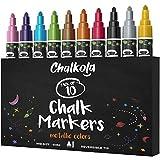 Metallic Chalk Markers (10 Pack) Liquid Chalk Pens - for Blackboards, Chalkboard, Bistro
