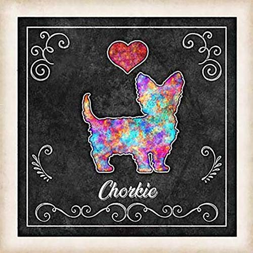 Department store Chorkie Dog Chalk Art Mounted New product Dan Print by Morris