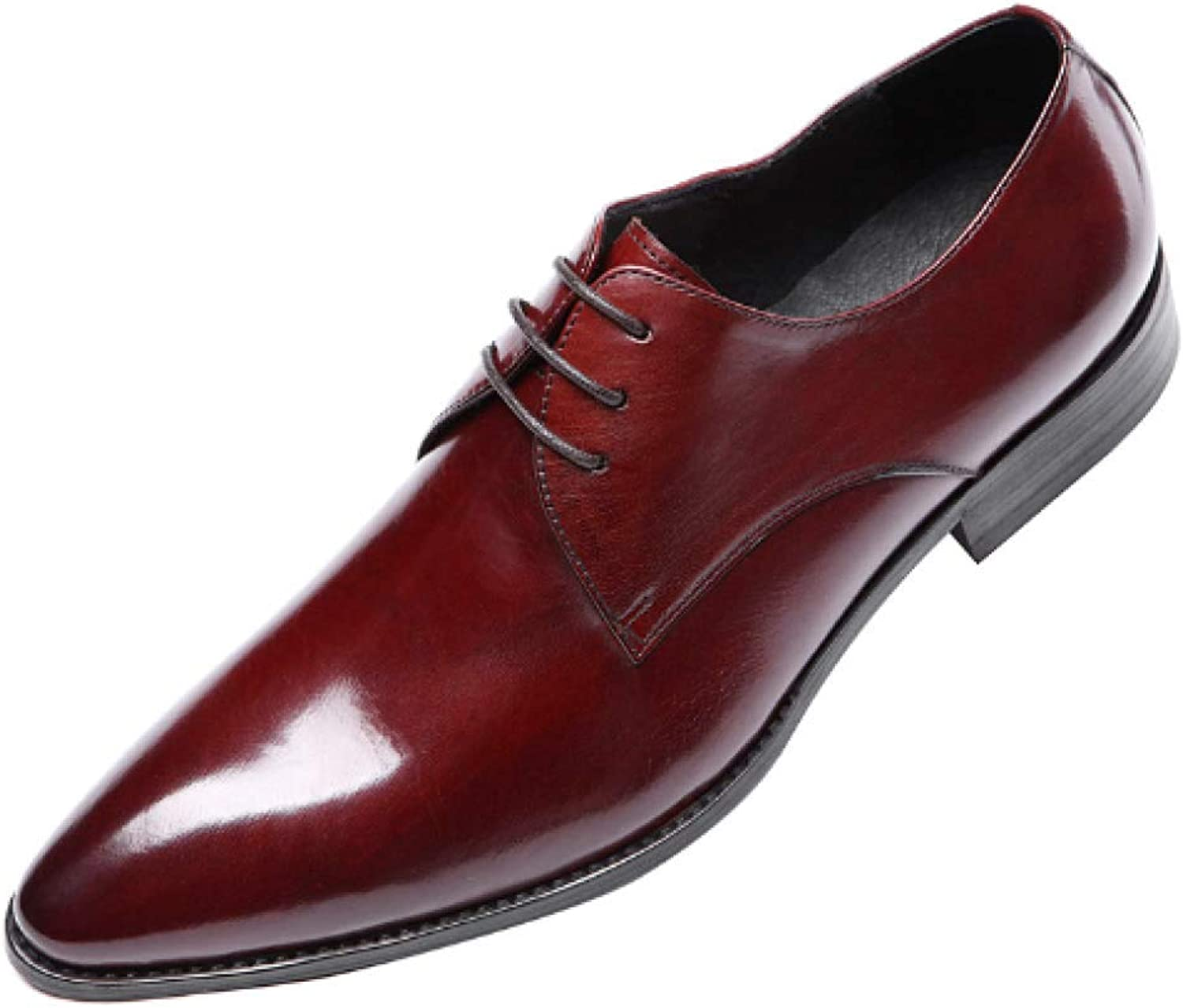 NIUMT Business,Daily Work,Pointed,Deodorant,wear-Resistant,Shock Absorption,Breathable,Lace-up shoes,Casual