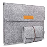 Inateck Felt Laptop Sleeve Carrying Case Bag Compatible 14 Inch Laptop/MacBook Pro 15'' 2019/2018/2017/2016 - Light Gray